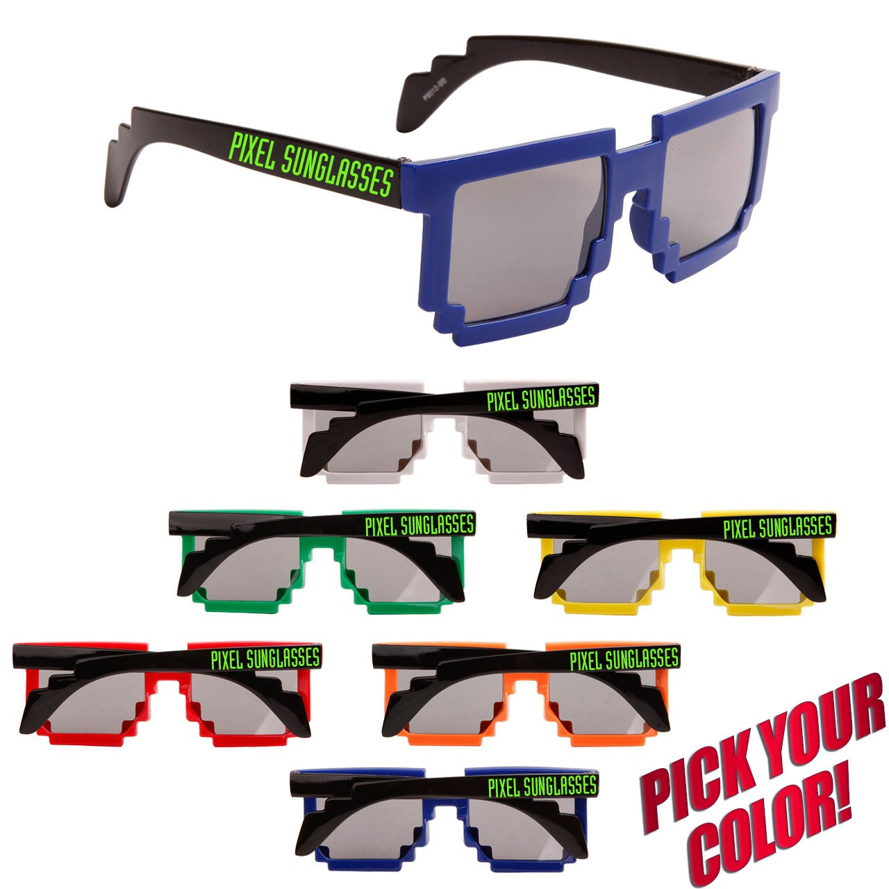 Customized Pixel Sunglasses Cheap