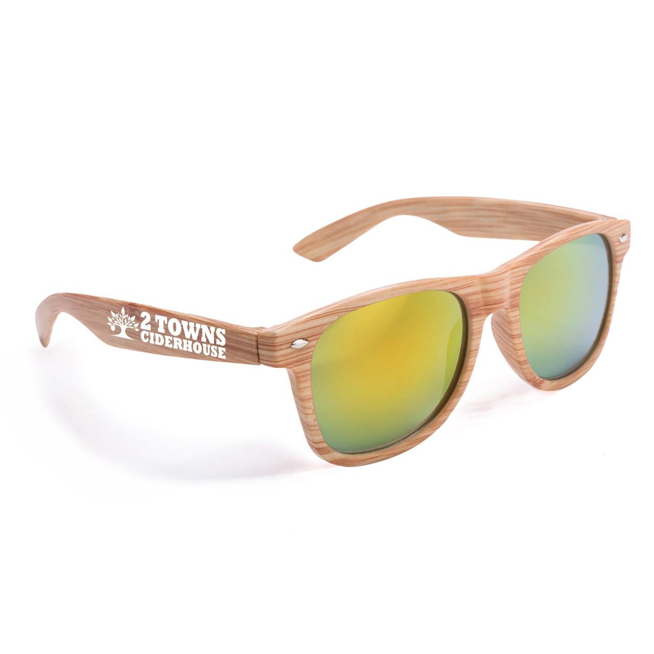 Custom Printed Wood Grain Sunglasses
