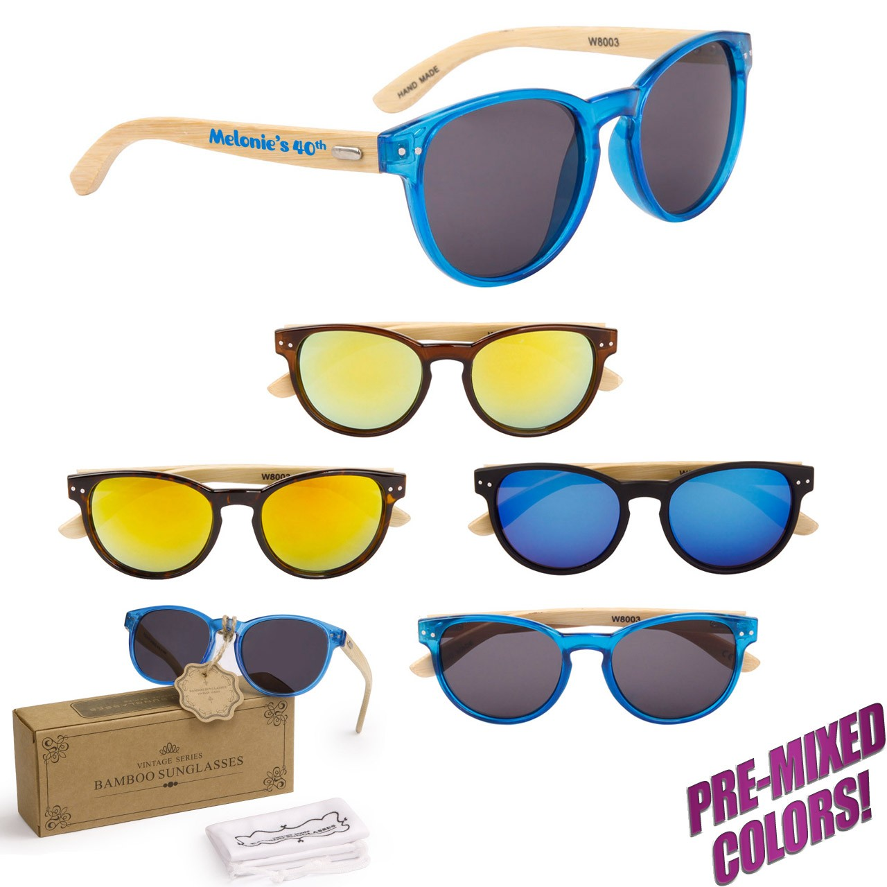 Customized Wood Sunglasses PW8003