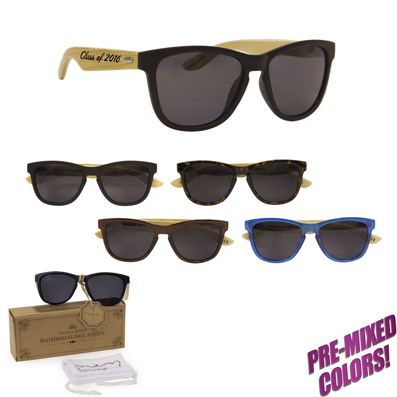 Branded Bamboo Sunglasses PW8004