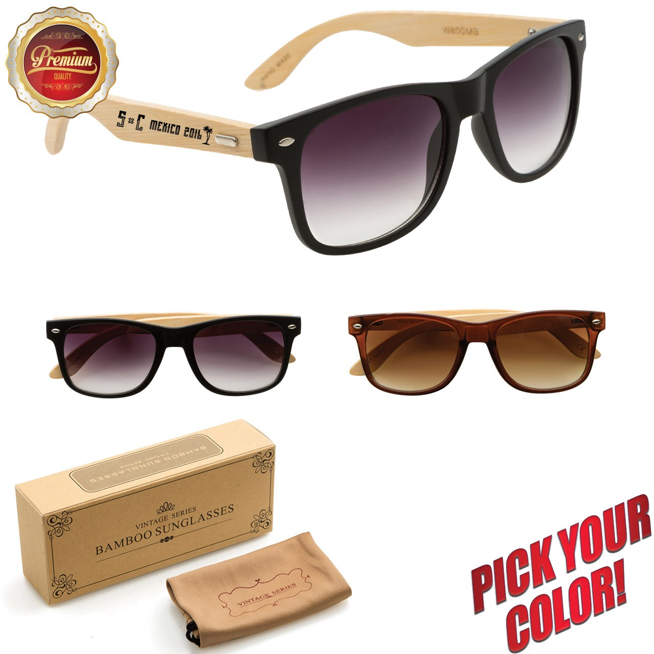 Personalized Wood Sunglasses in Bulk