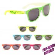 Bulk Printed Classic Neon Sunglasses