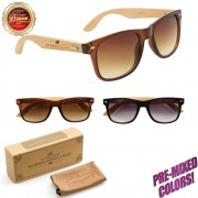Personalized Wood Wayfarer Sunglasses W800