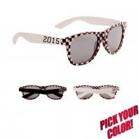 Custom Print Checkered Classic Sunglasses