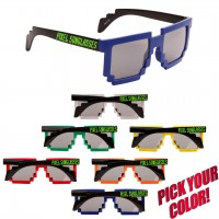 Customized Pixel Sunglasses Cheap