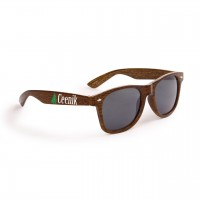 Bulk Sunglasses Personalized with Wood Grain Finish