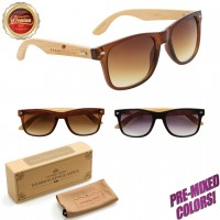 Personalized Wood Wayfarer Sunglasses