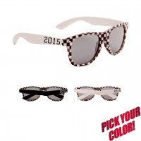 Custom Print Checkered Classic Sunglasses