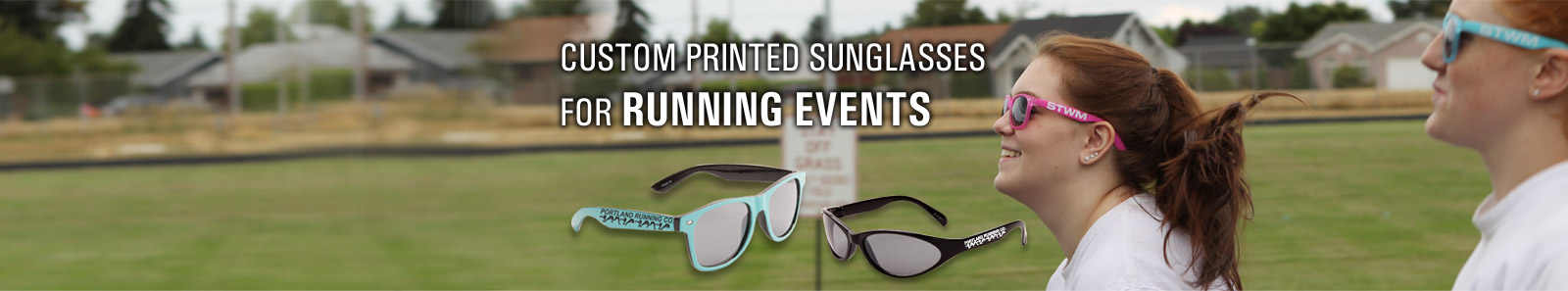Custom Printed Sunglasses for Running Events